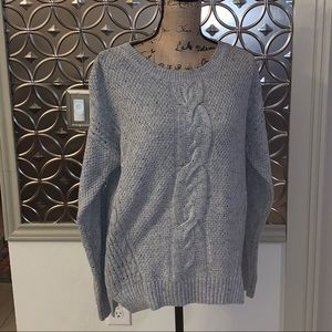 Tommy Hilfiger Women's Grey Woven Sweater - Large